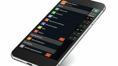 Смартфон з додатком BigFarmNet