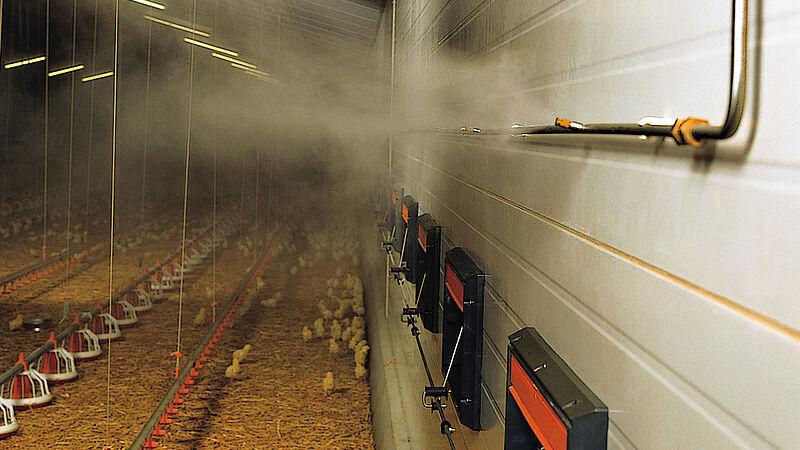 Fogging Cooler – система розпилення на основі високого тиску